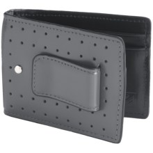 J. Fold Loungemaster Flip Clip Wallet - Leather in Gray - Closeouts