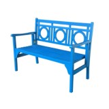 J Hunt Foldable Light Blue Acacia Bench
