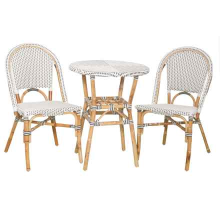 J Hunt Grey and White Bistro Set - 3-Piece in Grey/White - Closeouts