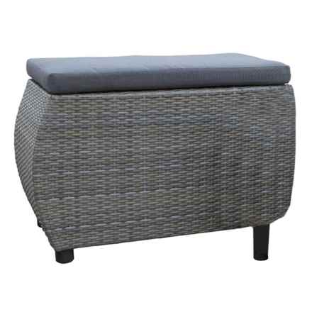 J Hunt Large Woven Ottoman in Gray - Closeouts