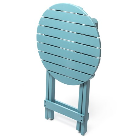 J Hunt Round Light Blue Acacia Side Table in Light Blue