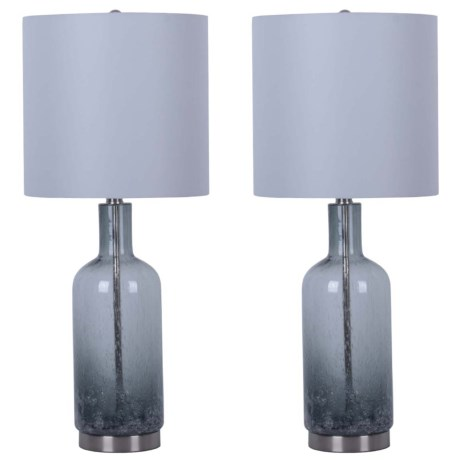 """J Hunt Set of 2 Ombre Seed Table Lamp with Shade - 28"""" in Gray"""