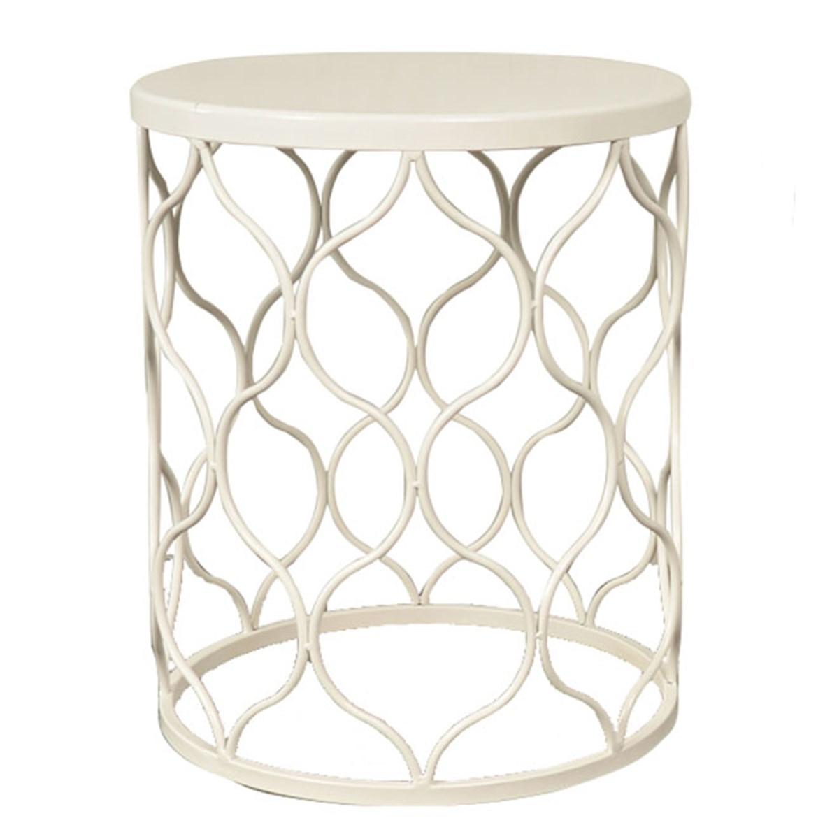 Sensational J Hunt Small White Metal Garden Stool 13X16 5 Save 30 Evergreenethics Interior Chair Design Evergreenethicsorg