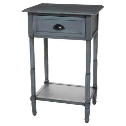 "J Hunt Solid Pine Side Table - 18.9x15x29.5"" in Gray - Closeouts"