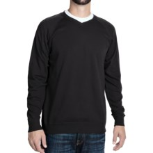 J. Peterman Being Comfortable Sweatshirt - V-Neck (For Men) in Black - Closeouts