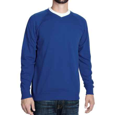 J. Peterman Being Comfortable Sweatshirt - V-Neck (For Men) in Blue - Closeouts