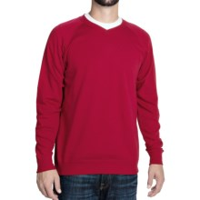 J. Peterman Being Comfortable Sweatshirt - V-Neck (For Men) in Red - Closeouts