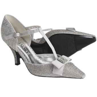 J. Renee Brandi T-Strap Pumps (For Women) in Silver