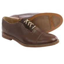 J Shoes Chalice Leather Oxford Shoes - Cap Toe (For Men) in Dark Tan/Chocolate - Closeouts
