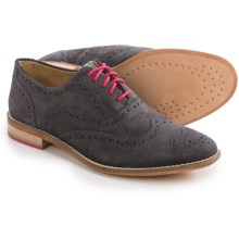 J Shoes Charlie Oxford Shoes - Leather (For Women) in Grey - Closeouts