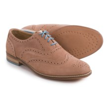 J Shoes Charlie Oxford Shoes - Leather (For Women) in Taupe - Closeouts