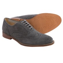 J Shoes Charlie Wingtip Oxford Shoes - Leather (For Men) in Grey - Closeouts