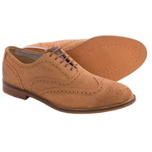 J Shoes Charlie Wingtip Oxford Shoes - Leather (For Men) in Light Tan - Closeouts