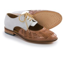 J Shoes Harrow Oxford Shoes - Leather (For Women) in Ivory/Taupe - Closeouts