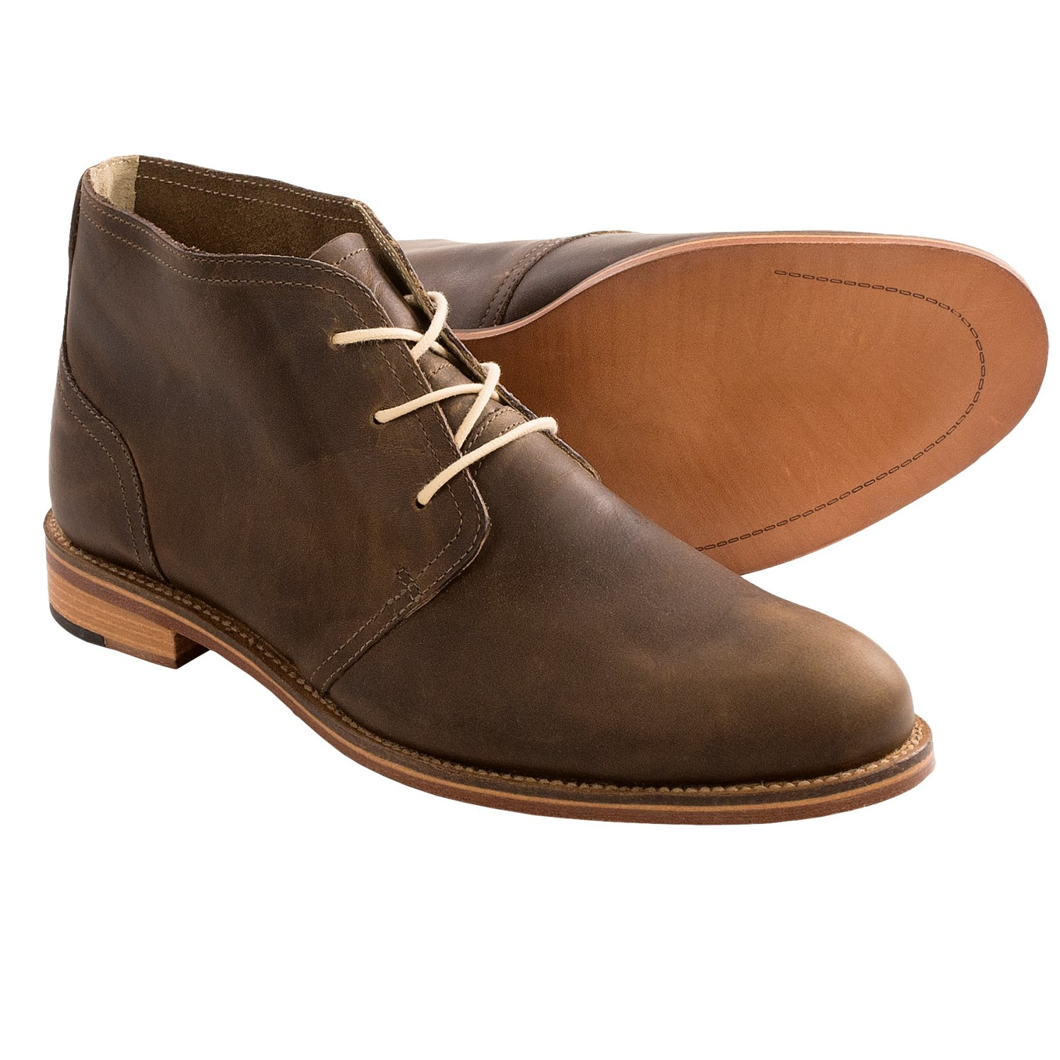 J. Shoes Monarch Chukka Boots - Leather (For Men) - Save 58%