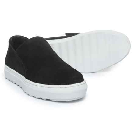 J Slides Perrie Sneakers - Suede, Slip-Ons (For Women) in Black Suede - Closeouts