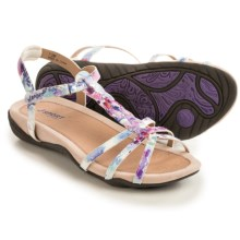 J Sport by Jambu Savina Sandals (For Women) in White Floral - Closeouts