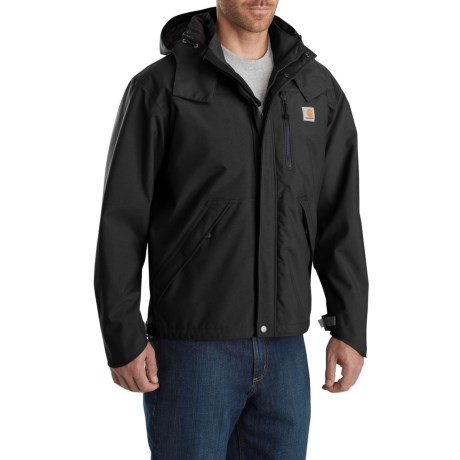 J162 Shoreline Jacket - Waterproof, Factory Seconds (For Men) - BLACK (2XL )