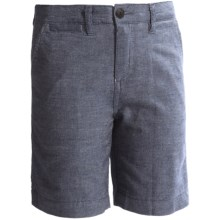 J.A.C.H.S. Bermuda Shorts - Cotton-Linen, Flat Front (For Little and Big Kids) in Blue - Closeouts