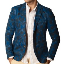 J.A.C.H.S. Double-Faced Camouflage Blazer - Two-Button (For Men) in Navy - Closeouts