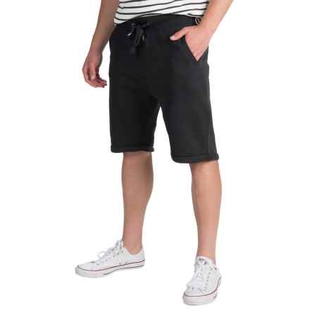 J.A.C.H.S. Fleece Drawstring Shorts (For Men) in Black - Closeouts