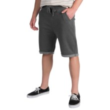 J.A.C.H.S. Fleece Drawstring Shorts (For Men) in Charcoal - Closeouts