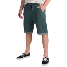 J.A.C.H.S. Fleece Drawstring Shorts (For Men) in Green - Closeouts