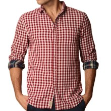 J.A.C.H.S. Gingham Shirt - Double Faced, Long Sleeve (For Men) in Sun Dried Tomato - Closeouts