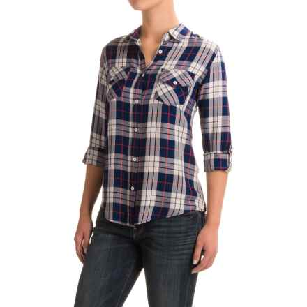 JACHS Girlfriend NY Haley Shirt - Long Sleeve (For Women) in Navy - Closeouts