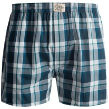 J.A.C.H.S. New York Woven Boxers (For Men) in Teal Plaid - Closeouts