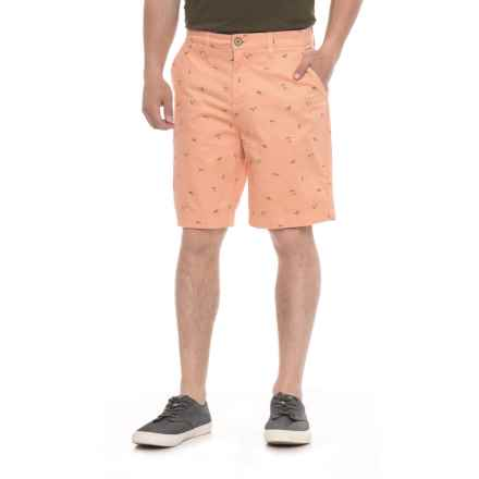 JACHS NY Bleeker Stretch Chino Shorts (For Men) in Burnt Orange/Surfer Girl - Overstock