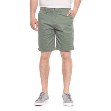 JACHS NY Bleeker Stretch Chino Shorts (For Men) in Green - Overstock