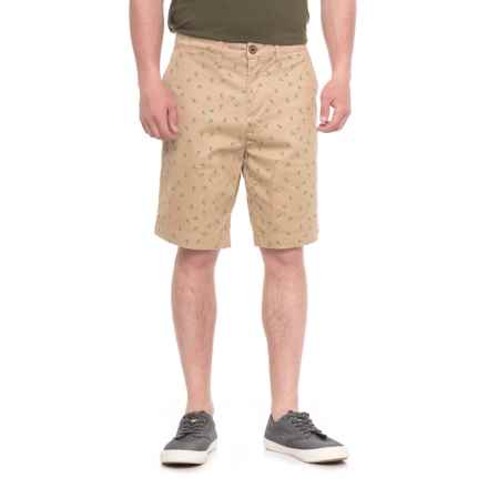 JACHS NY Bleeker Stretch Chino Shorts (For Men) in Khaki/Palm Trees - Overstock