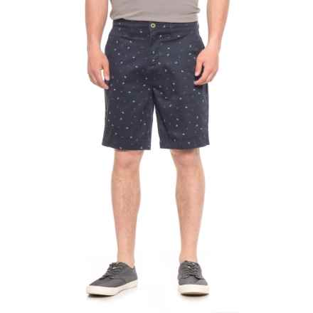 JACHS NY Bleeker Stretch Chino Shorts (For Men) in Navy/Anchors - Overstock