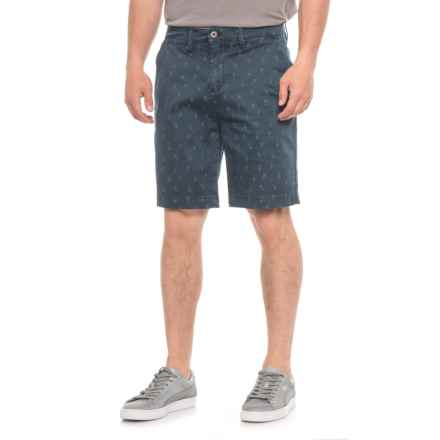 JACHS NY Bleeker Stretch Chino Shorts (For Men) in Navy/Pineapples - Overstock
