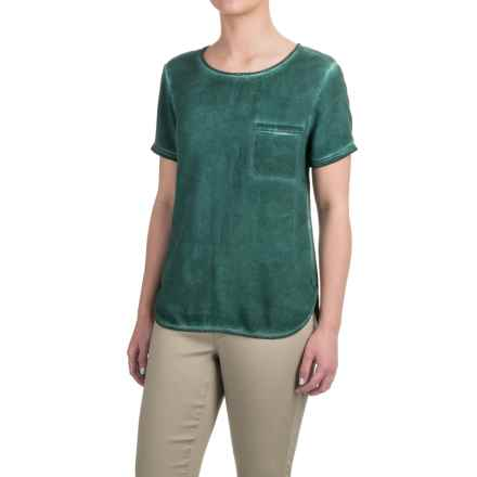 JACHS NY Callie T-Shirt - Rayon, Short Sleeve (For Women) in Green - Closeouts