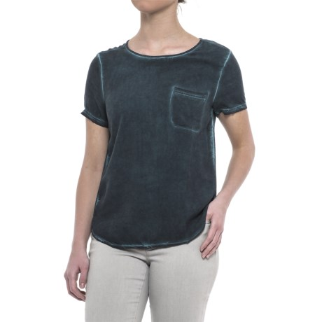 JACHS NY Callie T-Shirt - Rayon, Short Sleeve (For Women) in Navy