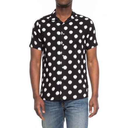 JACHS NY Camp Shirt - Short Sleeve (For Men) in Black/Dots - Closeouts