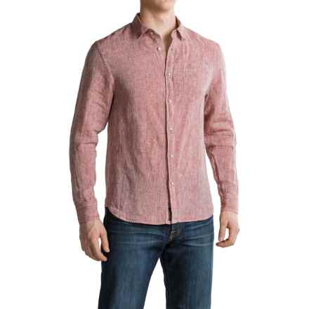 JACHS NY Chambray Linen Shirt - Long Sleeve (For Men) in Sun Dried - Closeouts