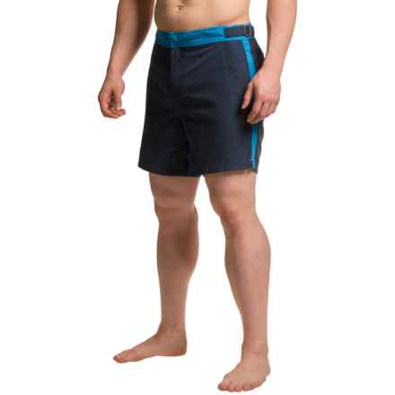JACHS NY Color-Block Hampton Swim Shorts (For Men) in Blue - Closeouts