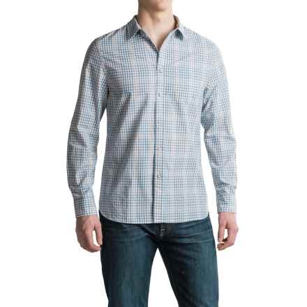 JACHS NY Cotton Check Shirt - Long Sleeve (For Men) in White - Closeouts