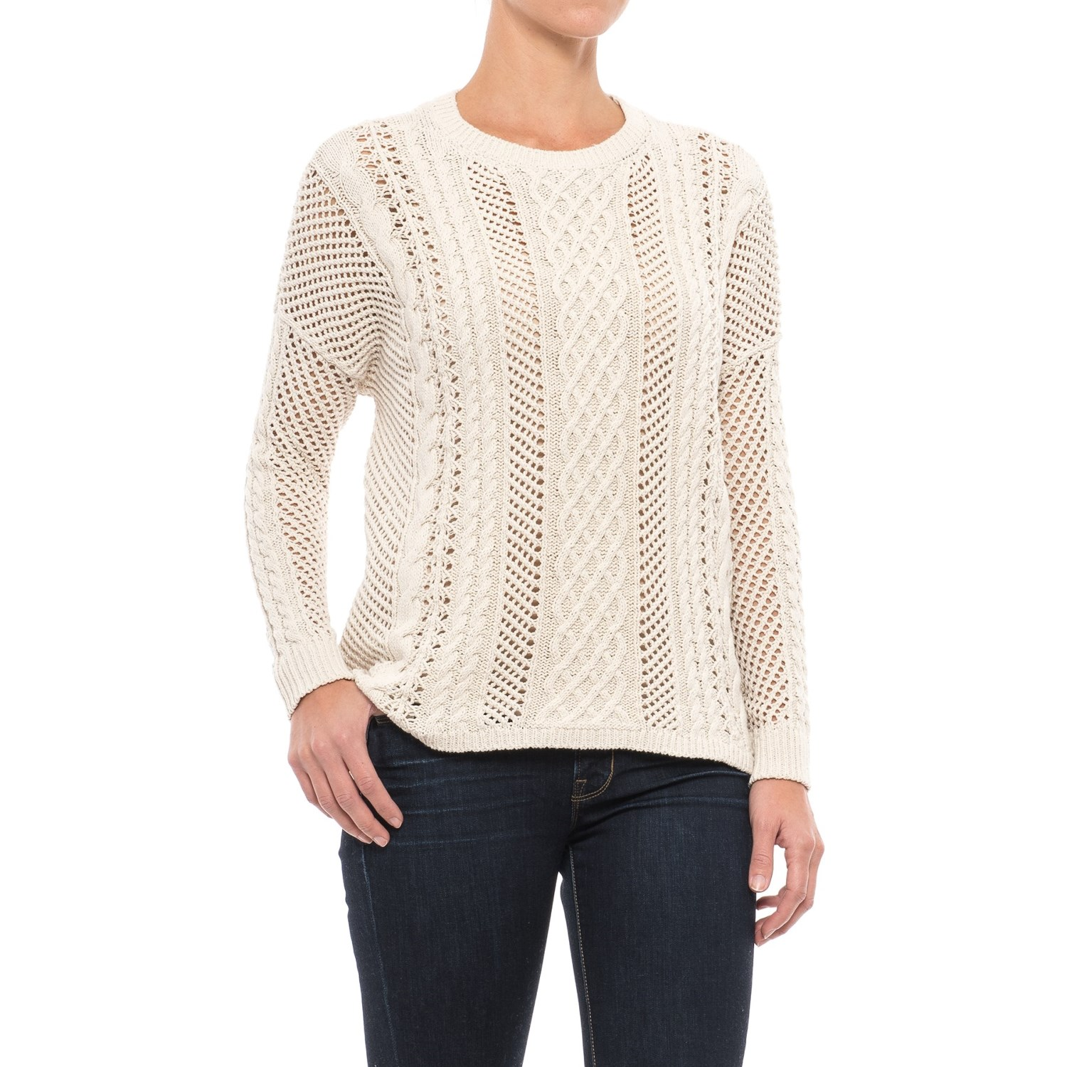 JACHS NY Crocheted Oversized Sweater (For Women) - Save 54%