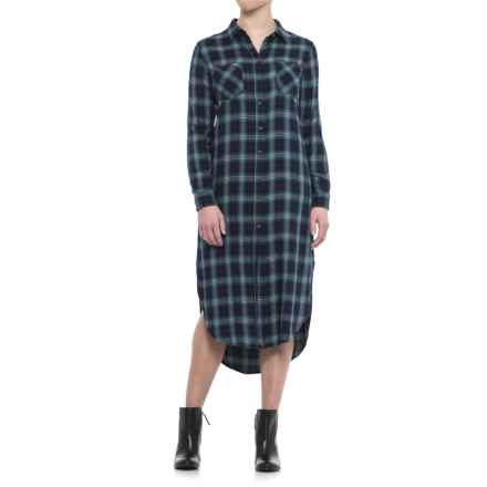JACHS NY Danielle Shirt Dress - Rayon, Long Sleeve (For Women) in Green - Closeouts