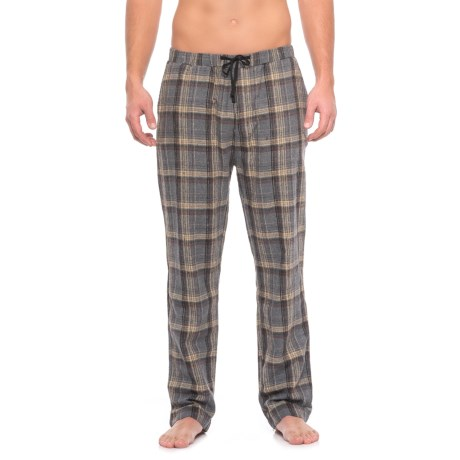 JACHS NY Flannel Lounge Pants (For Men) in Grey