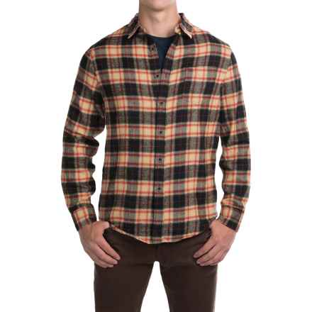 JACHS NY JACHS Girlfriend Plaid Flannel Shirt - Long Sleeve (For Men) in Black/Tan/Red Check - Closeouts