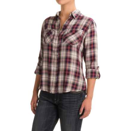JACHS NY Jenny Fishtail Shirt - Long Sleeve (For Women) in Red - Closeouts