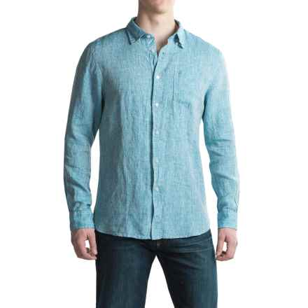 JACHS NY Linen Shirt - Long Sleeve (For Men) in Blue - Closeouts