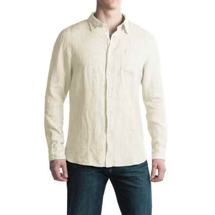 JACHS NY Linen Shirt - Long Sleeve (For Men) in White - Closeouts
