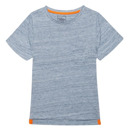 JACHS NY Marble Texture T-Shirt - Short Sleeve (For Little Boys) in Blue Heather