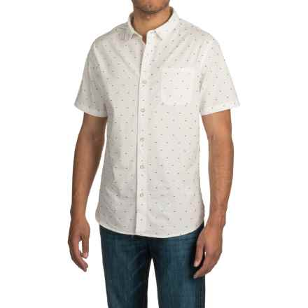JACHS NY Pop-a-Dot Shirt - Short Sleeve (For Men) in White - Closeouts
